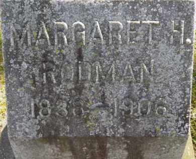 RODMAN, MARGARET H. - Erie County, Ohio | MARGARET H. RODMAN - Ohio Gravestone Photos
