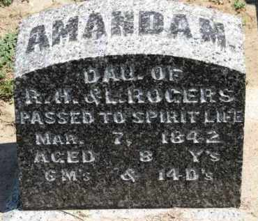ROGERS, AMANDA M. - Erie County, Ohio | AMANDA M. ROGERS - Ohio Gravestone Photos