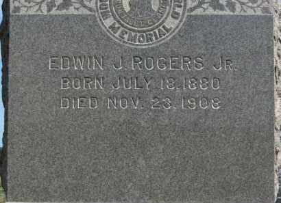 ROGERS, EDWIN J.  JR. - Erie County, Ohio | EDWIN J.  JR. ROGERS - Ohio Gravestone Photos