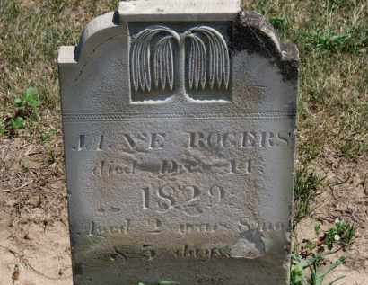 ROGERS, JANE - Erie County, Ohio | JANE ROGERS - Ohio Gravestone Photos