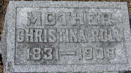 ROLL, CHRISTINA - Erie County, Ohio | CHRISTINA ROLL - Ohio Gravestone Photos