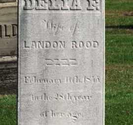 ROOD, DELIA F. - Erie County, Ohio | DELIA F. ROOD - Ohio Gravestone Photos
