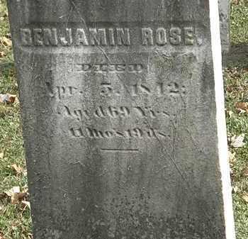 ROSE, BENJAMIN - Erie County, Ohio | BENJAMIN ROSE - Ohio Gravestone Photos