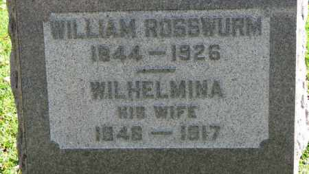 ROSSWURM, WILHELMINA - Erie County, Ohio | WILHELMINA ROSSWURM - Ohio Gravestone Photos