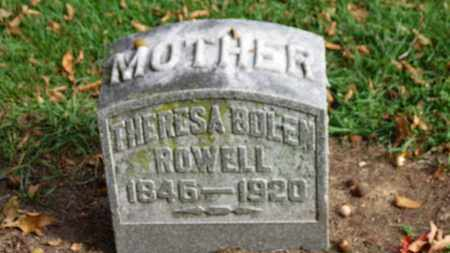 BOLEN ROWELL, THERESA - Erie County, Ohio | THERESA BOLEN ROWELL - Ohio Gravestone Photos