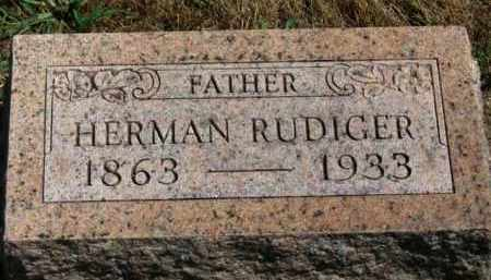 RUDIGER, HERMAN - Erie County, Ohio | HERMAN RUDIGER - Ohio Gravestone Photos