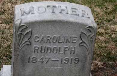 RUDOLPH, CAROLINE - Erie County, Ohio | CAROLINE RUDOLPH - Ohio Gravestone Photos