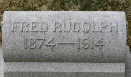 RUDOLPH, FRED - Erie County, Ohio | FRED RUDOLPH - Ohio Gravestone Photos