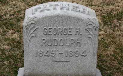 RUDOLPH, GEORGE H. - Erie County, Ohio | GEORGE H. RUDOLPH - Ohio Gravestone Photos