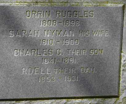 RUGGLES, SARAH - Erie County, Ohio | SARAH RUGGLES - Ohio Gravestone Photos