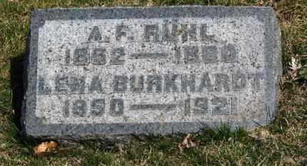 RUHL, LENA - Erie County, Ohio | LENA RUHL - Ohio Gravestone Photos