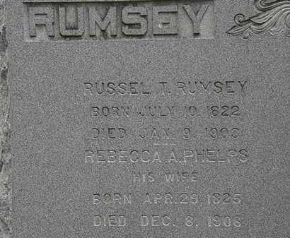 RUMSEY, RUSSELL T. - Erie County, Ohio | RUSSELL T. RUMSEY - Ohio Gravestone Photos
