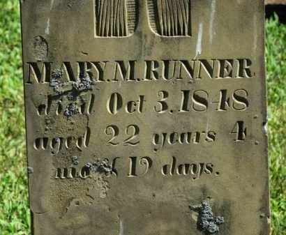 RUNNER, MARY M. - Erie County, Ohio | MARY M. RUNNER - Ohio Gravestone Photos