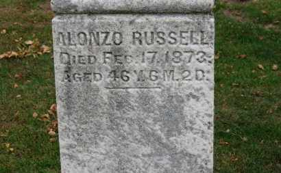 RUSSELL, ALONZO - Erie County, Ohio | ALONZO RUSSELL - Ohio Gravestone Photos