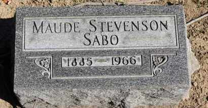 STEVENSON SABO, MAUDE - Erie County, Ohio | MAUDE STEVENSON SABO - Ohio Gravestone Photos