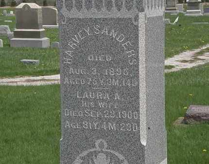SANDERS, HARVEY - Erie County, Ohio | HARVEY SANDERS - Ohio Gravestone Photos