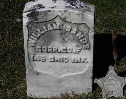 SANDS, WILLIAM - Erie County, Ohio   WILLIAM SANDS - Ohio Gravestone Photos