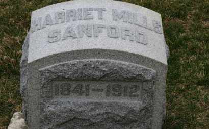 MILLS SANFORD, HARRIET - Erie County, Ohio | HARRIET MILLS SANFORD - Ohio Gravestone Photos