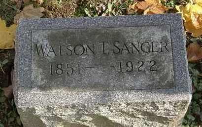 SANGER, WATSON T. - Erie County, Ohio | WATSON T. SANGER - Ohio Gravestone Photos