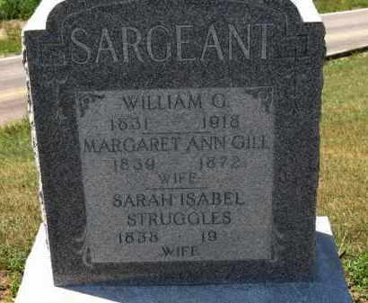 GILL SARGEANT, MARGARET ANN - Erie County, Ohio | MARGARET ANN GILL SARGEANT - Ohio Gravestone Photos