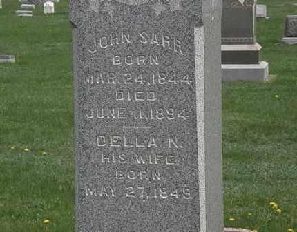 SARR, DELLA N. - Erie County, Ohio | DELLA N. SARR - Ohio Gravestone Photos