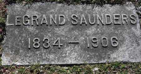 SAUNDERS, LEGRAND - Erie County, Ohio | LEGRAND SAUNDERS - Ohio Gravestone Photos