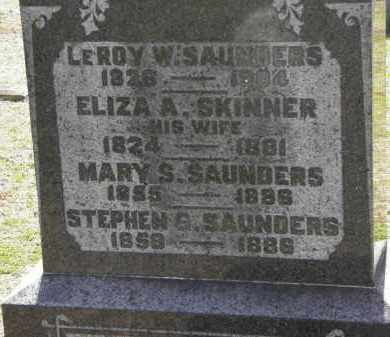 SAUNDERS, ELIZA A. - Erie County, Ohio | ELIZA A. SAUNDERS - Ohio Gravestone Photos