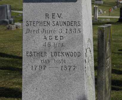 SAUNDERS, REV. STEPHEN - Erie County, Ohio | REV. STEPHEN SAUNDERS - Ohio Gravestone Photos