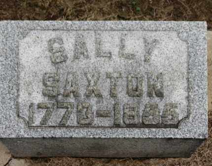 SAXTON, SALLY - Erie County, Ohio | SALLY SAXTON - Ohio Gravestone Photos