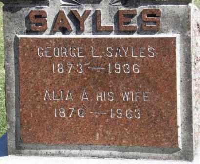 SAYLES, ALTA A. - Erie County, Ohio | ALTA A. SAYLES - Ohio Gravestone Photos