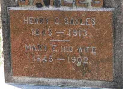 SAYLES, MARY E. - Erie County, Ohio | MARY E. SAYLES - Ohio Gravestone Photos
