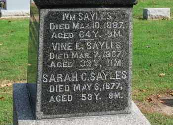 SAYLES, WM. - Erie County, Ohio | WM. SAYLES - Ohio Gravestone Photos
