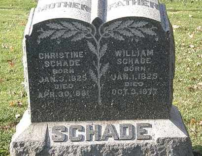 SCHADE, WILLIAM - Erie County, Ohio | WILLIAM SCHADE - Ohio Gravestone Photos