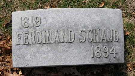 SCHAUB, FERDINAND - Erie County, Ohio | FERDINAND SCHAUB - Ohio Gravestone Photos