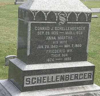 SCHELLENBERGER, ANNA MARTHA - Erie County, Ohio | ANNA MARTHA SCHELLENBERGER - Ohio Gravestone Photos