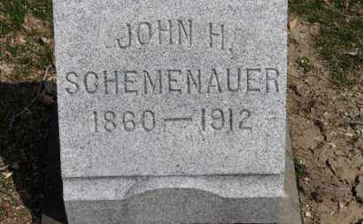 SCHEMENAUER, JOHN H. - Erie County, Ohio | JOHN H. SCHEMENAUER - Ohio Gravestone Photos