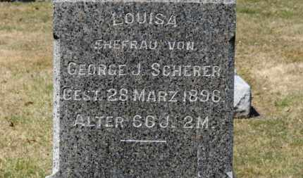 SCHERER, LOUISA - Erie County, Ohio | LOUISA SCHERER - Ohio Gravestone Photos