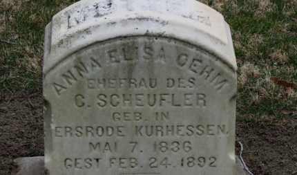 OEHM SCHEUFLER, ANNA ELISA - Erie County, Ohio | ANNA ELISA OEHM SCHEUFLER - Ohio Gravestone Photos