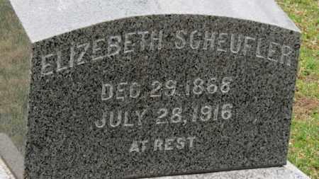 SCHEUFLER, ELIZABETH - Erie County, Ohio | ELIZABETH SCHEUFLER - Ohio Gravestone Photos