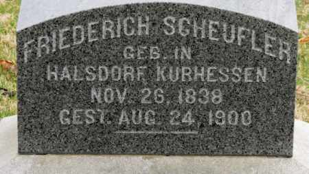SCHEUFLER, FRIEDERICH - Erie County, Ohio | FRIEDERICH SCHEUFLER - Ohio Gravestone Photos