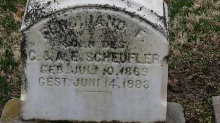 SCHEUFLER, FERDINAND F. - Erie County, Ohio | FERDINAND F. SCHEUFLER - Ohio Gravestone Photos