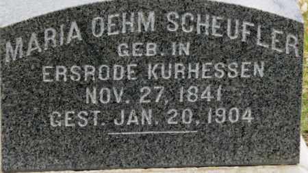 OEHM SCHEUFLER, MARIA - Erie County, Ohio | MARIA OEHM SCHEUFLER - Ohio Gravestone Photos