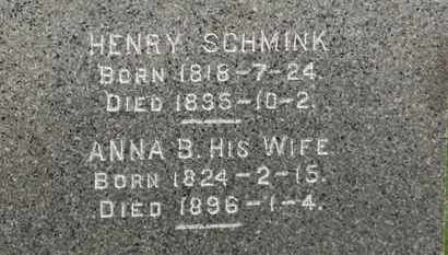 SCHMINK, HENRY - Erie County, Ohio | HENRY SCHMINK - Ohio Gravestone Photos