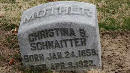 SCHNAITTER, CHRISTINA B. - Erie County, Ohio | CHRISTINA B. SCHNAITTER - Ohio Gravestone Photos