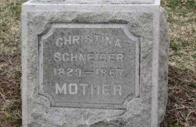 SCHNEIDER, CHRISTINA - Erie County, Ohio | CHRISTINA SCHNEIDER - Ohio Gravestone Photos