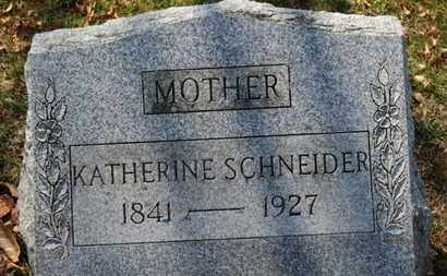 SCHNEIDER, KATHERINE - Erie County, Ohio | KATHERINE SCHNEIDER - Ohio Gravestone Photos