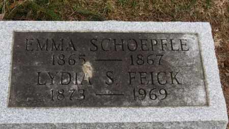 SCHOEPFLE, EMMA - Erie County, Ohio | EMMA SCHOEPFLE - Ohio Gravestone Photos