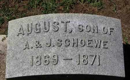 SCHOEWE, AUGUST - Erie County, Ohio | AUGUST SCHOEWE - Ohio Gravestone Photos