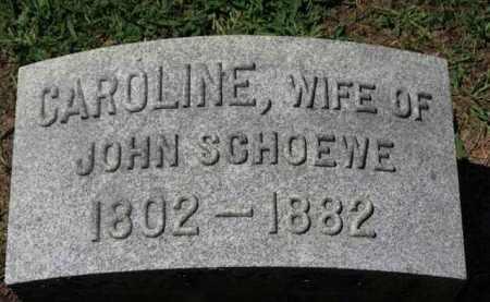 SCHOEWE, CAROLINE - Erie County, Ohio | CAROLINE SCHOEWE - Ohio Gravestone Photos