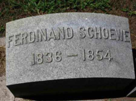 SCHOEWE, FERDINAND - Erie County, Ohio | FERDINAND SCHOEWE - Ohio Gravestone Photos